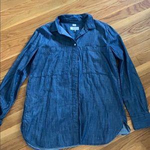 Loft Denim Button Down Shirt. Size Small